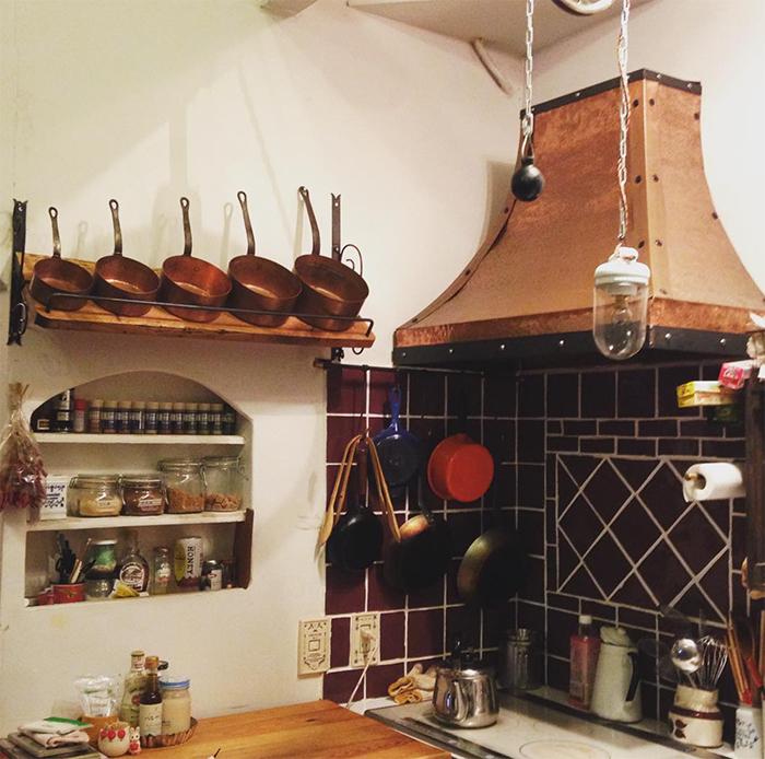銅鍋の置き場