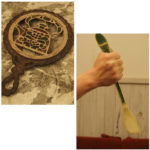 アンティーク鍋敷きと竹ベラ