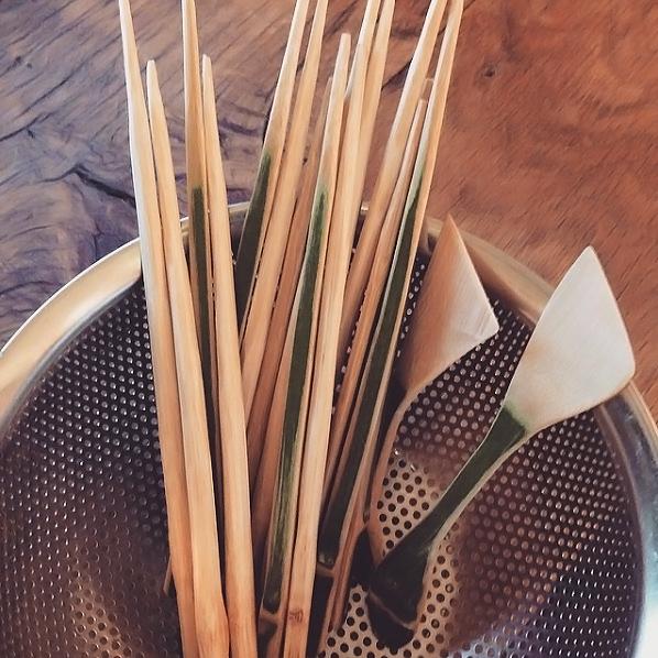 竹細工お箸とバターナイフ