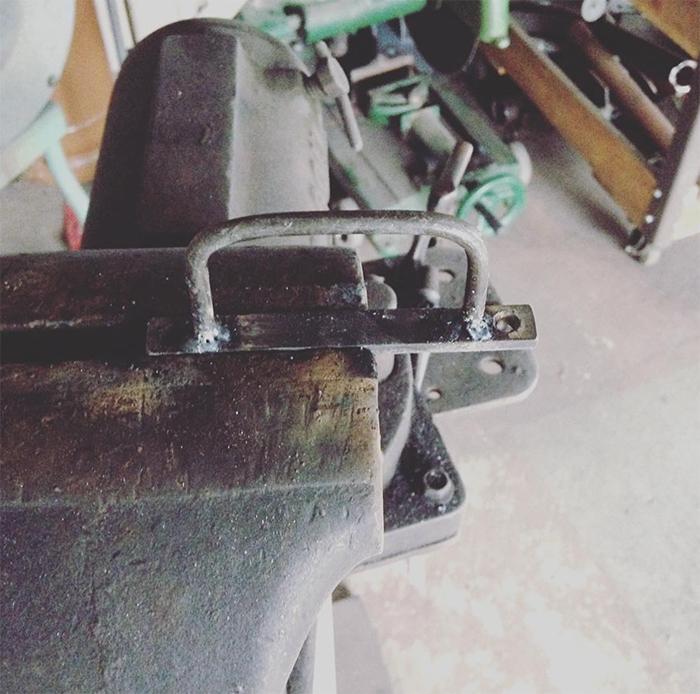 カットボードに付けるアイアンの取っ手製作