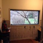 玄関入った所の大窓の借景